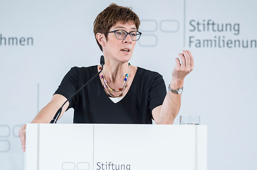 Annegret Kramp-Karrenbauer, the chair of the Christian-Democratic Union (CDU)
