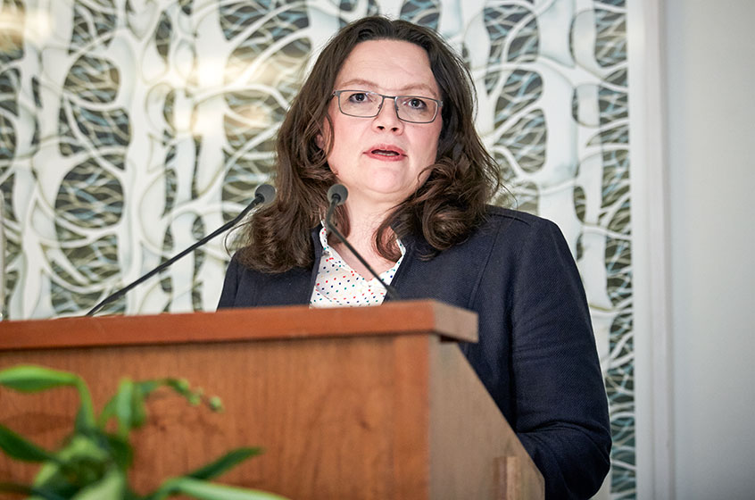 Former Chairman of the Social Democratic Group of the German Bundestag Andrea Nahles
