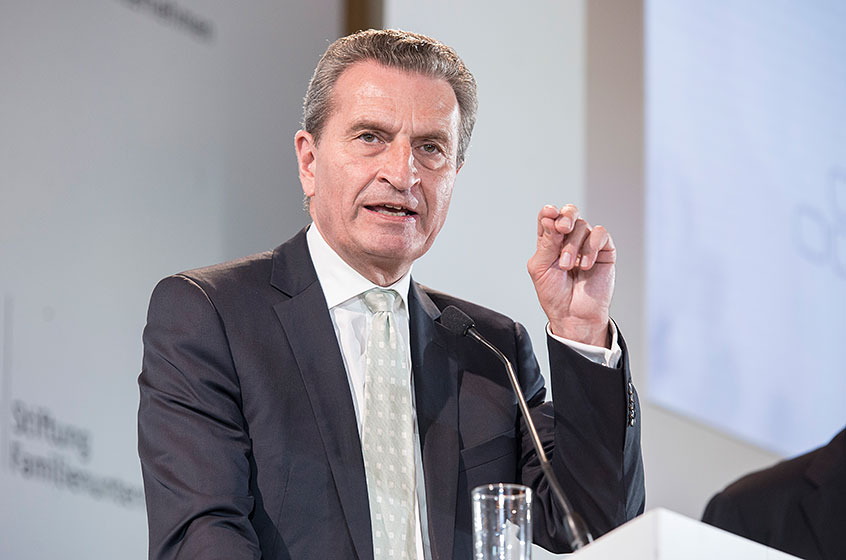 Günther Oettinger, European Commissioner for Budget & Human Resources