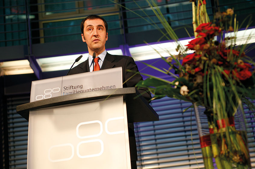 Cem Özdemir, leader of the Green Party, at German Family-Business Day