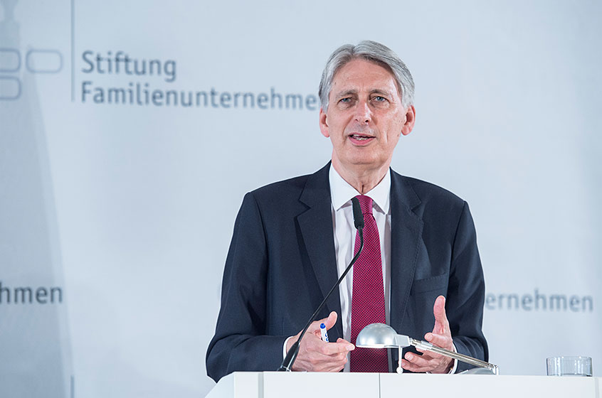 Philip Hammond, Chancellor of the United Kingdom at the German Family-Business Day