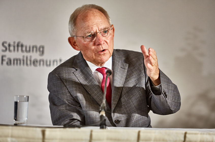 Dr. Wolfgang Schäuble, President of the German Bundestag