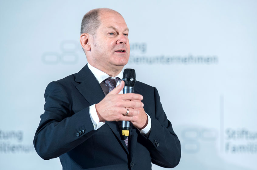 Olaf Scholz, Federal Minister of Finance at the German Family-Business Day