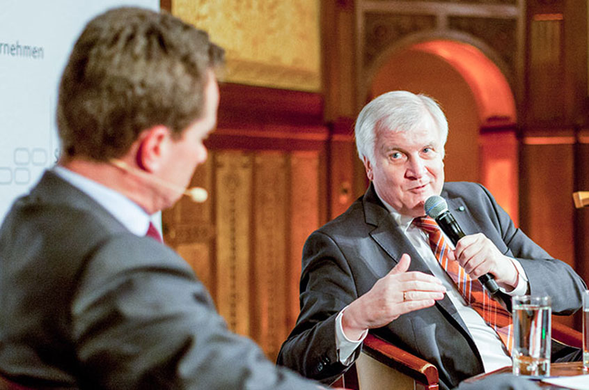 Horst Seehofer, Premier of Bavaria, honours family businesses
